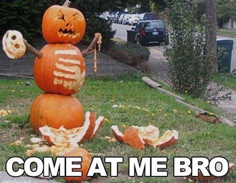 Funny Halloween Memes - funny halloween pumpkin come at me bro