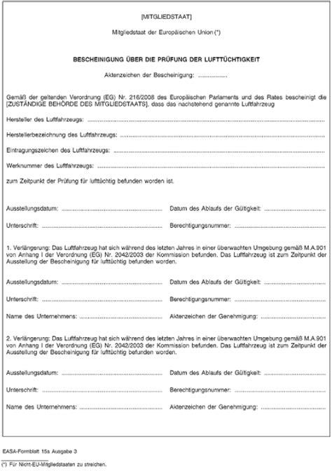 Muster Mahnung Behörde Umwelt Verordnung Eg Nr 2042 2003 252 Ber Die Aufrechterhaltung Der Luftt 252 Chtigkeit