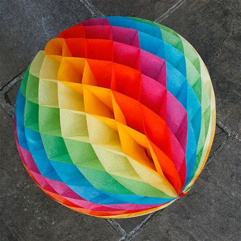 How To Make Honeycomb Paper Decorations - paper luxe 35cm honeycomb decorations by pearl and