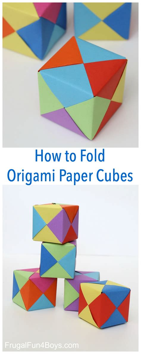 Folding Paper Cube - how to fold origami paper cubes