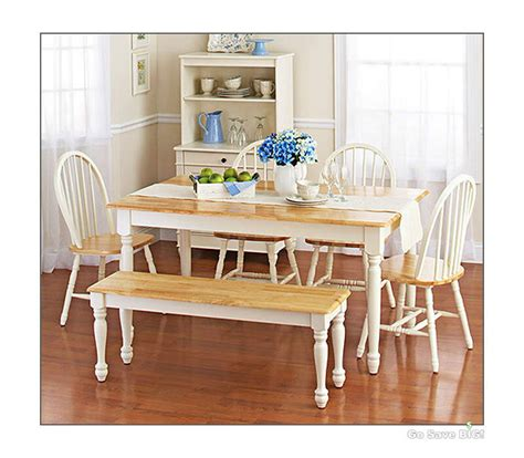farmhouse dining room table sets 6pc farmhouse dining room sets table bench chairs wood