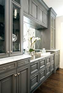 Gray Painted Kitchen Cabinets Trove Interiors Falling For Grey Kitchens