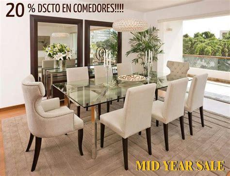 decorar mesas de living comedor sillas beige y espejos mesa de vidrio
