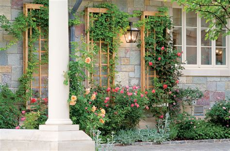 How To Build An Elegant Wall Attached Trellis Sunset Garden Wall Panels
