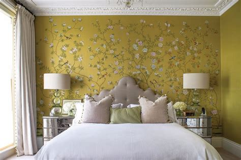 yellow wallpaper for bedrooms design wallpaper ideas for modern master bedrooms master