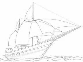 mewarnai kapal layar laut