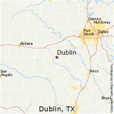 dublin texas map best places to live in dublin texas