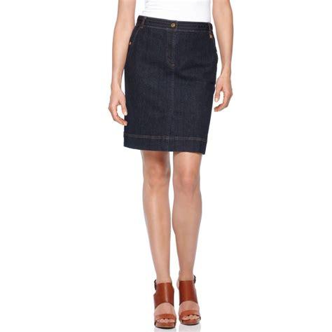 jones new york signature skirt slim denim pencil