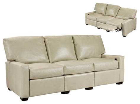 Transitional Leather Sofa Leather Recliner Sofas Reclining Sofas Transitional Family Room Seattle By Wellington