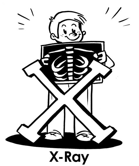 X Ray Coloring Pages Coloring Home