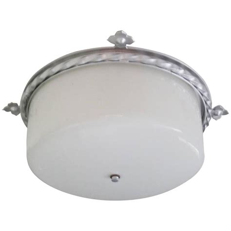 Large Flush Mount Light Fixtures Large 40 S Modern Neoclassical Flush Mount Fixture For Sale At 1stdibs