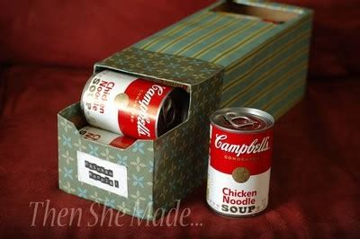 cover soda boxes and use for your pantry food storage