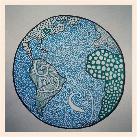 doodle earth planet earth doodle zendoodle zentangle drawing