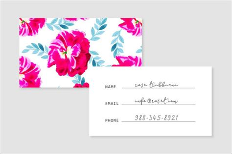 flower shop business card template free flower shop business card templates free premium