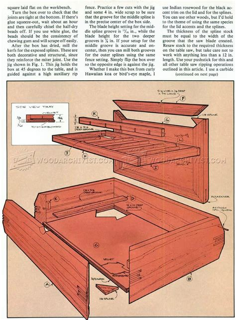 jewelry box woodworking plans jewelry box plans woodarchivist