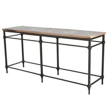 reclaimed wood and wrought iron sofa table iron console cameron