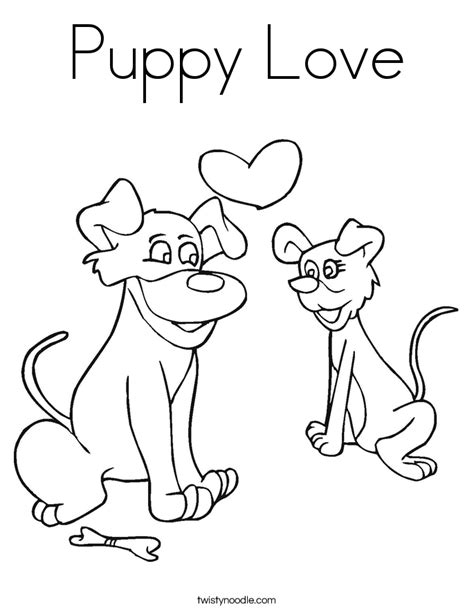 coloring pages puppy love puppy love coloring page twisty noodle