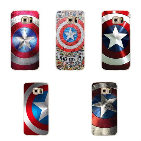 Casing Hp Samsung S6 Edge Plus Captain America Civil War 2 Custom never give up captain america shield for samsung s3 s4 s5 mini s6 s7 edge plus note 3 4 5