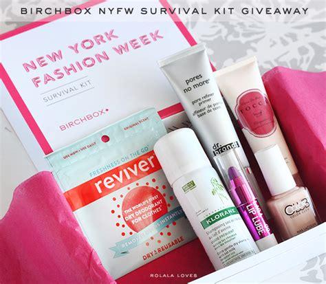 Birchbox Giveaway - giveaway birchbox nyfw survival kit rolala loves