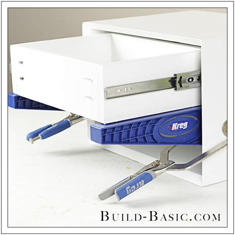 Drawer Slide Jig by How To Use A Kreg Drawer Slide Jig Build Basic