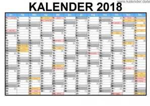 Kalender 2018 Excel Kalender 2018 Mit Ferien And Feiertagen
