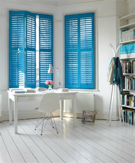 blue interior fresh summer looks on modern shutters