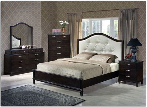 exquisite leather platform and headboard bed with storage bedroom furniture photo