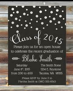 graduation invitation custom color graduation open house invitation chagne grad