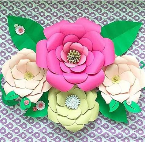 diy large paper flower templates paper flower kit paper