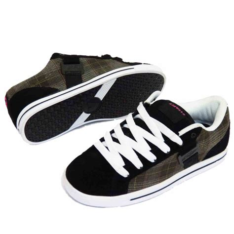 airwalk sneakers black leather airwalk lace up skater trainers