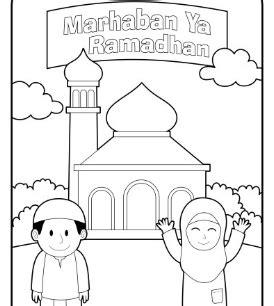 gambar hitam putih tema ramadhan trend terbaru