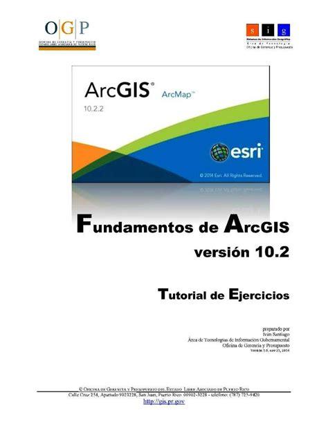 tutorial arcgis geologia fundamentos de arcgis versi 243 n 10 2 tutorial de