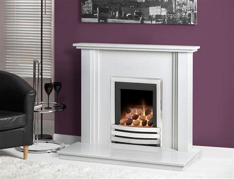 White House Fireplaces by Caterham 38 Nevada Micro Marble Fireplace Carrara White