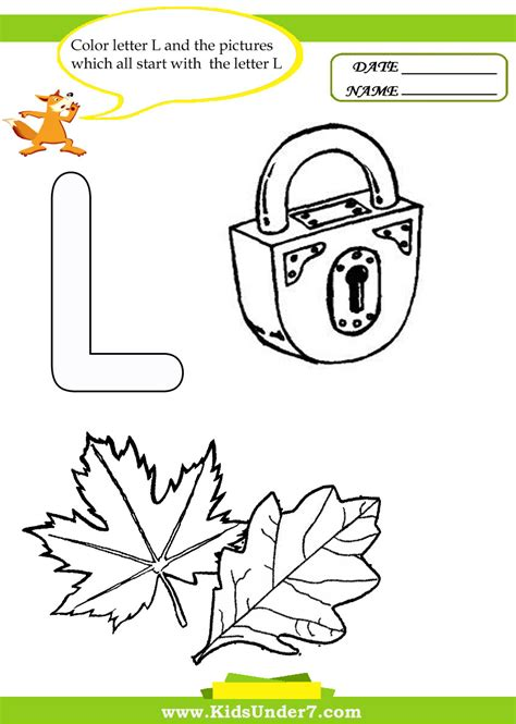 letter l worksheets for kinder letter l worksheets by