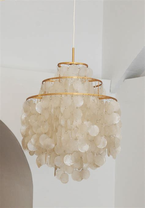 Lotus Capiz Chandelier Capiz Lotus Chandelier Simple Terrific Home Interior