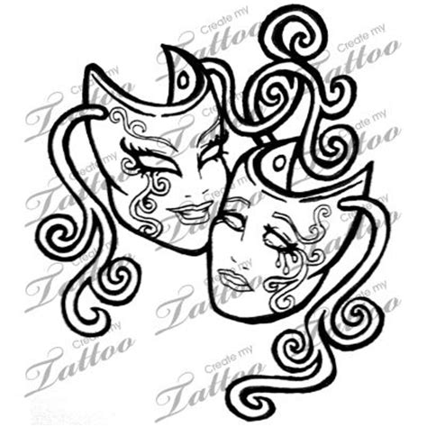 marketplace tattoo theatrical masks 7351 createmytattoo