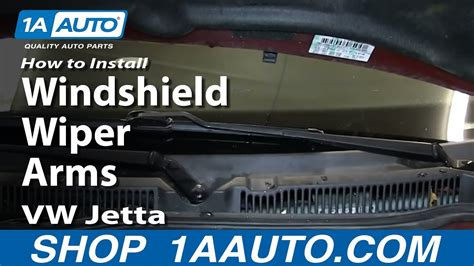 install replace windshield wiper arms   vw