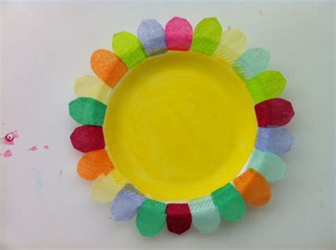 Arts And Crafts Tissue Paper Flowers - daycare crafts tissue paper and paper plate flower craft