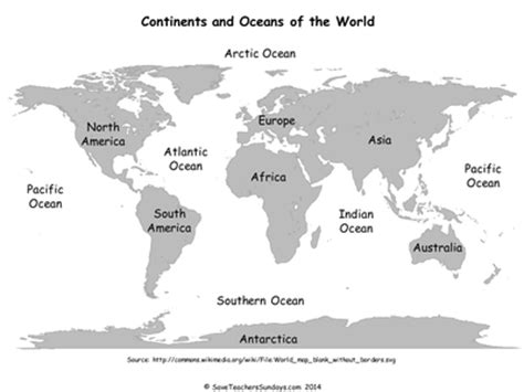 map world ks1 continents and oceans ks1 lesson plan activities by