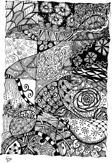 Drawing Zentangle by Dobriendesign Zentangle Quilt Inspiration