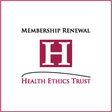 membership renewal health ethics trust