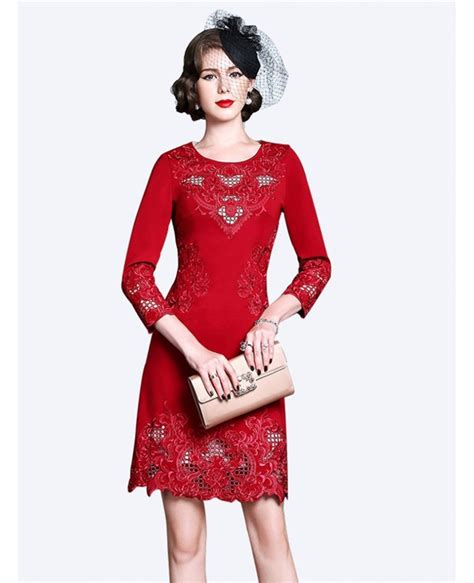 wedding guest dresses for women over 50 high end embroidery long sleeve party dress for women over