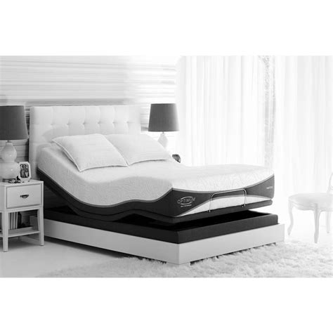Sealy Adjustable Bed Frame Sealy Posturepedic Reflexion 4 Adjustable Size Mattress Bed Frame 60966340 The Home Depot