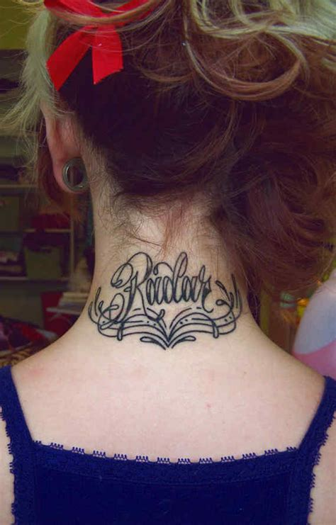 tattoo care for back of neck 28 back neck name tattoos