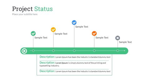 project update presentation template project status