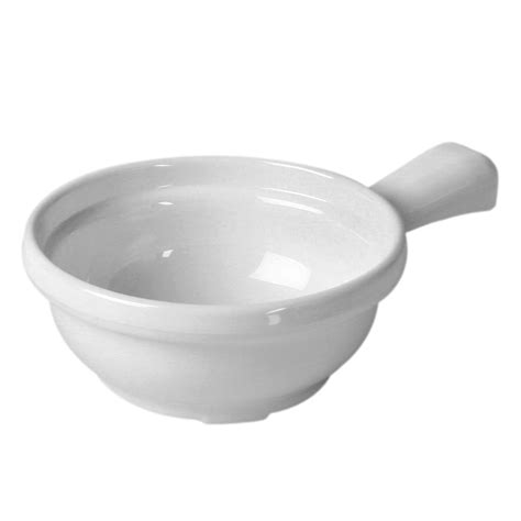 Bowl With Handle thunder cr305w white melamine soup bowl with handle