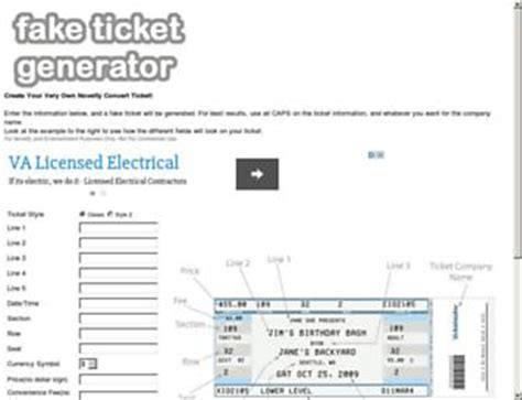 fake bus ticket generator templates websites