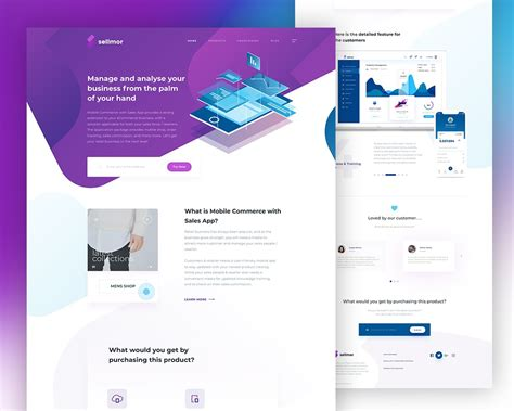 Sales App Landing Page Template Psd Download Download Psd App Landing Page Template