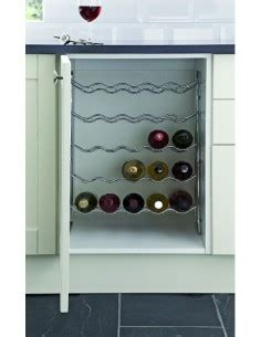 chrome kitchen rack from the holding company kitchen kwr5tc or kwr150c wine racks for 150mm or 300mm cabinets