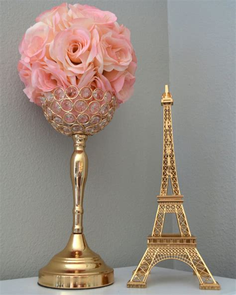 Gold Eiffel Tower Centerpiece Parisians Theme Decor Paris Eiffel Tower Centerpieces